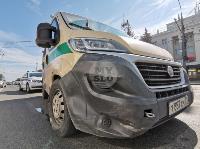В Туле столкнулись броневик и внедорожник Lexus, Фото: 1