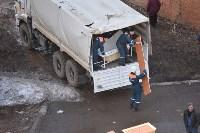 У дома, поврежденного взрывом в Ясногорске, демонтировали опасный угол стены, Фото: 33