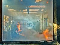 На ул. Баженова в Туле крупный пожар уничтожил жилой дом, Фото: 20