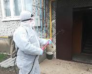 Сотрудники МЧС проводят дезинфекционные работы, Фото: 14