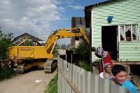 В Плеханово начали сносить дома в цыганском таборе, Фото: 65