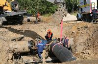 Как ведется монтаж водовода, питающего водой Пролетарский округ Тулы. Фото, Фото: 12
