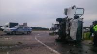 Авария на трассе Тула-Калуга. 04.07.2014, Фото: 4