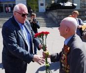 Тульский ветеран и боевое знамя в Москве. 7.05.2015, Фото: 1