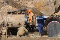 Как ведется монтаж водовода, питающего водой Пролетарский округ Тулы. Фото, Фото: 30