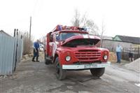 На Калужском шоссе загорелся жилой дом, Фото: 18