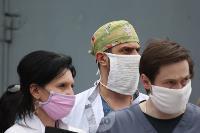 В Туле сотрудники МЧС эвакуировали госпитали госпиталь для больных коронавирусом, Фото: 12