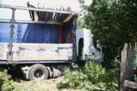 В Барсуках фура влетела в огород и сломала дерево, Фото: 4