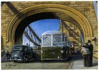 RFW Coach crossing Tower Bridge Автобус AEC Regal IV пересекает Тауэрский мост, Фото: 8