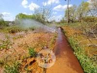 В деревне под Тулой из водопроводной трубы забили девять фонтанов, Фото: 1