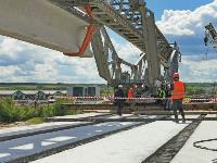 Восточный обвод: Строительство моста через Упу, Фото: 11