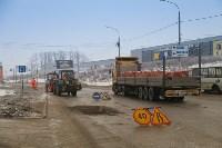 В Туле продолжается аварийно-восстановительный ремонт дорог, Фото: 3