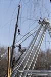 Монтаж колеса обозрения в ЦПКиО. 25 февраля 2014, Фото: 11