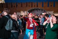 Как туляки поддерживали сборную России в матче с Бельгией, Фото: 26