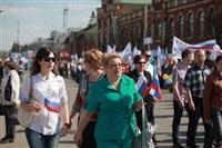 Тульская Федерация профсоюзов провела митинг и первомайское шествие. 1.05.2014, Фото: 23