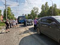 В Туле на ул. Октябрьской водитель автобуса устроил массовое ДТП, Фото: 8