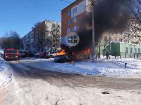 В Пролетарском районе Тулы загорелся микроавтобус, Фото: 2