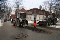 В Туле продолжается аварийно-восстановительный ремонт дорог, Фото: 2