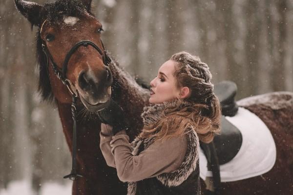 Даша и лошадь Дана :)