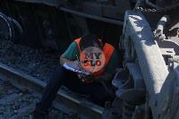 В Тульской области грузовой поезд сошел с рельсов, Фото: 8