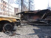 Сгоревшие сараи на улице Немцова в Туле, Фото: 3