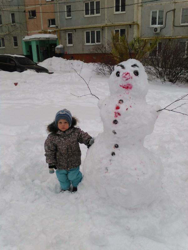 снеговик и Игорь