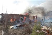На Калужском шоссе загорелся жилой дом, Фото: 6