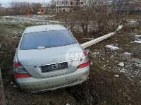 В Туле Mercedes повалил фонарный столб, Фото: 5