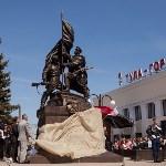 Открытие монумента и бронепоезда на Московском вокзале. 8 мая 2015 года, Фото: 58