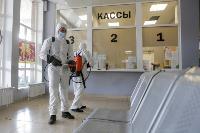 Тульские спасатели продезинфицировали автовокзал «Восточный», Фото: 39