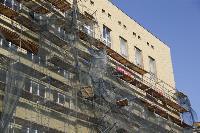 В Туле со здания ТулГУ сильный ветер снес строительные леса, Фото: 10