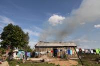С огнем в жилом доме в селе Теплое боролись три пожарных расчета, Фото: 15