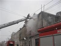 В Туле загорелся дом на ул. Металлистов, Фото: 2