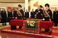 В Туле прошла церемония крепления к древку полотнища знамени регионального УМВД, Фото: 14