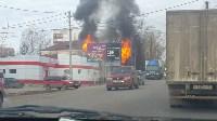 На Одоевском шоссе сгорел дом, Фото: 3