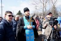 Храм в селе Ефремовского района обрел купол и крест, Фото: 19