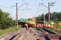 В Тульской области грузовой поезд сошел с рельсов, Фото: 39