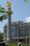 «Святой Георгий Победоносец». Эта скульптура установлена на 30-метровой колонне на площади Свободы в Тбилиси – Святой Георгий является покровителем Грузии. Монумент был открыт в апреле 2006 года., Фото: 1