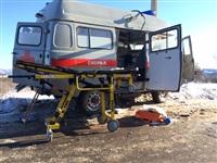 Автомобиль «скорой помощи» столкнулся с грузовиком, Фото: 7