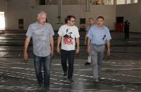 Юрий Андрианов проинспектировал работы в бассейне на Гоголевской и на Ледовой арене. 4 июля 2015, Фото: 4