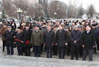 Возложение цветов к памятнику на площади Победы. 21 февраля 2014, Фото: 12