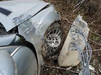 В Туле Mercedes повалил фонарный столб, Фото: 3