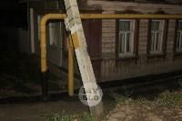 На улице Пролетарской столб падает на газовую трубу, Фото: 6