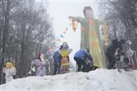 В ЦПКиО сожгли чучело зимы, Фото: 20