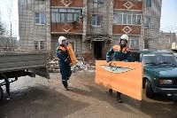 У дома, поврежденного взрывом в Ясногорске, демонтировали опасный угол стены, Фото: 3