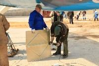 Установка копии Ла-5ФН на несущую опору мемориала «Защитникам неба Отечества» , Фото: 12