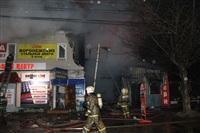 На ул. Оборонной в Туле сгорел магазин., Фото: 1