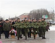 Возложение цветов к памятнику на площади Победы. 21 февраля 2014, Фото: 2