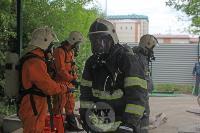 В Туле сотрудники МЧС эвакуировали госпитали госпиталь для больных коронавирусом, Фото: 50