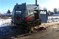 """На трассе М2 автомобиль """"скорой"""" столкнулся с автовозом., Фото: 10"""